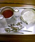 ソフト麺とミートソースと牛乳とミルメークを注文