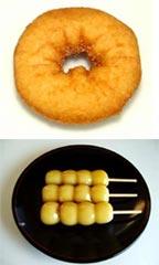 ドーナツにダンゴ