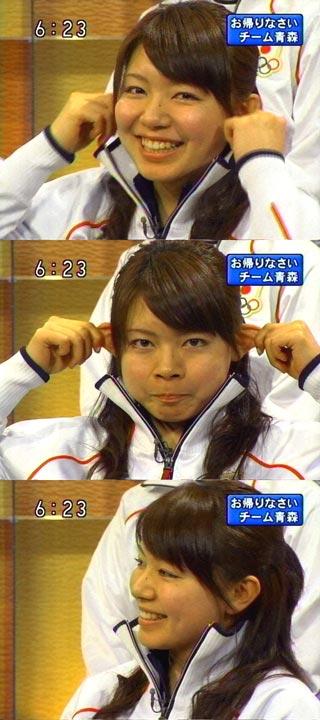 本橋麻里選手、また変な顔