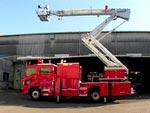 消防車が出動している間に消防署が火事